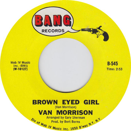 van morrisons brown eyed girl song essay Brown eyed girl as recorded by van morrison (from the 1967 album tb sheets) transcribed by danny begelman words and music by van morrison g c x d x x em d7 xx.